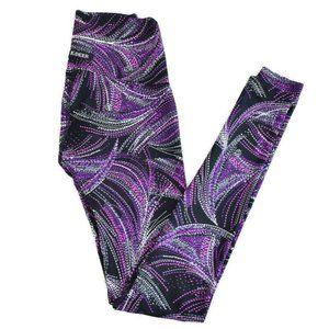K-Deer Full Length Leggings Mystic Purple Med EUC